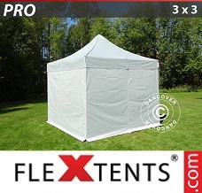 Event tent 3x3 m silver, incl. 4 sidewalls