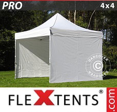 Event tent 4x4 m White, incl. 4 sidewalls