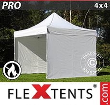 Event tent 4x4 m White, Flame retardant, incl. 4 sidewalls