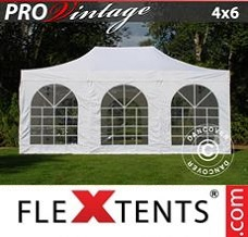 Event tent 4x6 m White, incl. 8 sidewalls