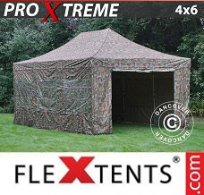 Event tent  4x6 m Camouflage/Military, incl. 8