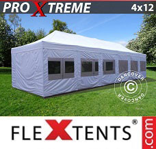 Event tent 4x12 m White, incl. sidewalls