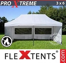 Event tent  3x6 m White, Flame retardant, incl. 6 sidewalls