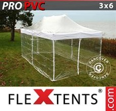 Event tent  3x6 m Clear, incl. 6 sidewalls