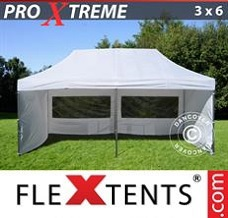 Event tent  3x6 m White, incl. 6 sidewalls