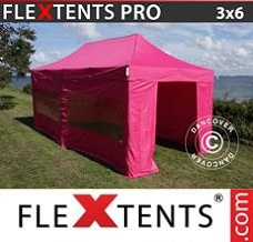 Event tent  3x6 m Pink, incl. 6 sidewalls