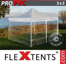 Event tent 3x3 m Clear, incl. 4 sidewalls