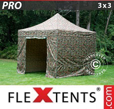 Event tent 3x3 m Camouflage/Military, incl. 4