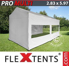 Event tent 2.83x5.87 m White, incl. 6 sidewalls
