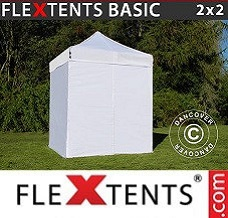 Event tent  2x2 m White, incl. 4 sidewalls