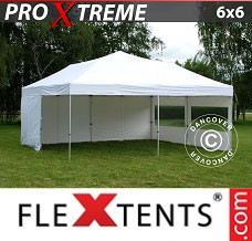Event tent 6x6 m White, incl. 8 sidewalls