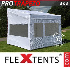 Event tent 3x3m White, incl. 4 sidewalls