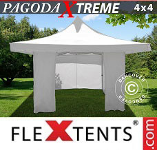 Event tent 4x4 m / (5x5 m) White, incl. 4 sidewalls