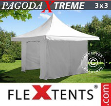 Event tent 3x3 m / (4x4 m) White, incl. 4 sidewalls