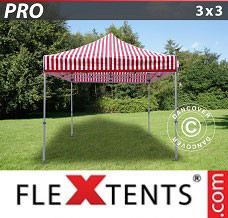 Event tent 3x3 m striped