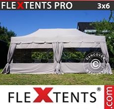 Event tent 3x6 m Latte, incl. 6 sidewalls and 6...
