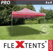 Event tent 4x4 m striped