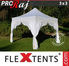 Event tent 3x3 m White/Gold
