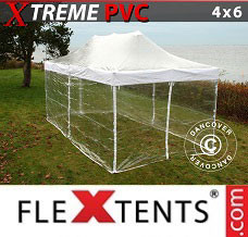 Event tent 4x6 m Clear, incl. 8 sidewalls