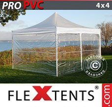 Event tent  4x4 m Clear, incl. 4 sidewalls