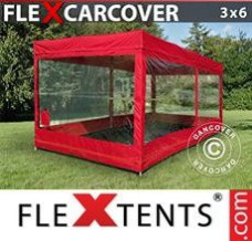 Event tent 3x6 m, Red