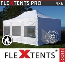 Event tent 4x6 m White, Flame retardant, incl. 4 sidewalls