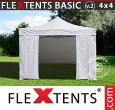 Event tent 4x4m White, incl. 4 sidewalls