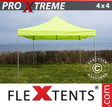 Event tent 4x4 m Neon yellow/green