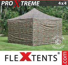 Event tent 4x4 m Camouflage/Military, incl. 4