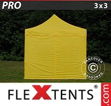 Event tent 3x3 m Yellow, incl. 4 sidewalls