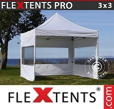 Event tent 3x3 m White, incl. 4 sidewalls