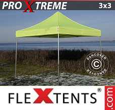 Event tent 3x3 m Neon yellow/green