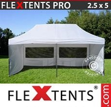 Event tent 2.5x5m White, incl. 6 sidewalls