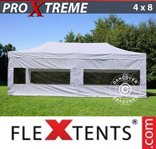 Event tent 4x8 m White, incl. 6 sidewalls