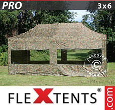 Event tent 3x6 m Camouflage/Military, incl. 6 sidewalls