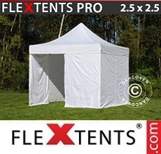 Event tent 2.5x2.5 m White, incl. 4 sidewalls