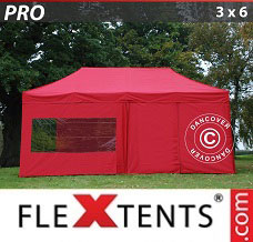 Event tent  3x6 m Red, incl. 6 sidewalls